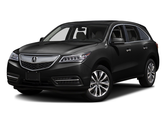 Crystal Black Pearl 2016 Acura MDX Pictures MDX Utility 4D Technology AWD V6 photos front view