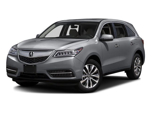 Lunar Silver Metallic 2016 Acura MDX Pictures MDX Utility 4D Technology AWD V6 photos front view