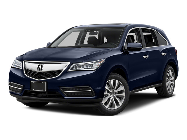 Fathom Blue Pearl 2016 Acura MDX Pictures MDX Utility 4D Technology DVD AWD V6 photos front view