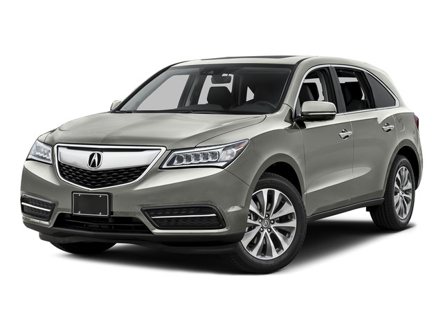 Lunar Silver Metallic 2016 Acura MDX Pictures MDX Utility 4D Technology DVD AWD V6 photos front view