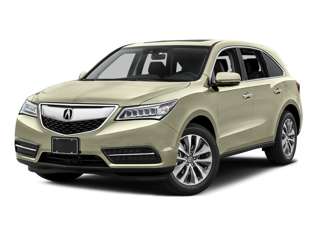 White Diamond Pearl 2016 Acura MDX Pictures MDX Utility 4D Technology DVD AWD V6 photos front view