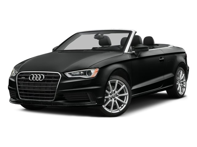 Mythos Black Metallic/Black Roof 2016 Audi A3 Pictures A3 Conv 2D 2.0T Premium Plus S-Line AWD photos front view