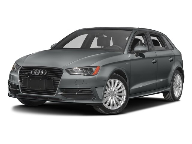 Monsoon Gray Metallic 2016 Audi A3 e-tron Pictures A3 e-tron Hatchback 5D E-tron Prestige photos front view