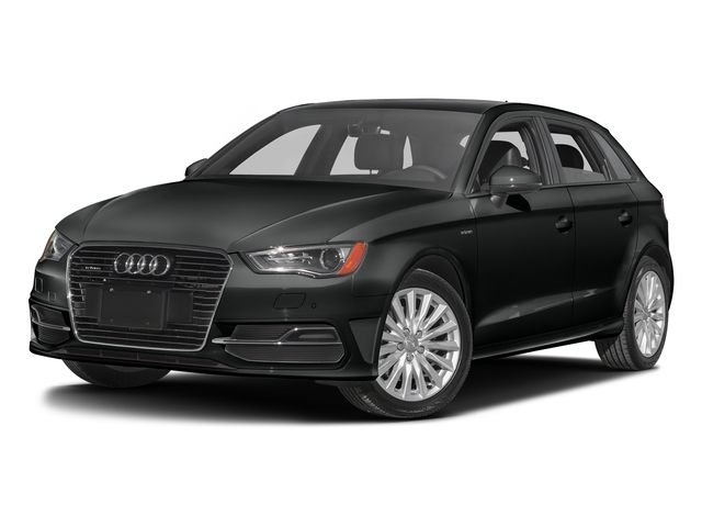 Mythos Black Metallic 2016 Audi A3 e-tron Pictures A3 e-tron Hatchback 5D E-tron Prestige photos front view