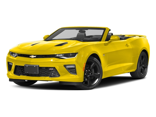 Bright Yellow 2016 Chevrolet Camaro Pictures Camaro Convertible 2D SS V8 photos front view
