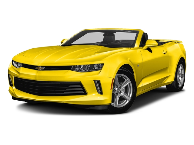 Bright Yellow 2016 Chevrolet Camaro Pictures Camaro Convertible 2D 2LT V6 photos front view