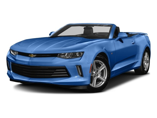 Hyper Blue Metallic 2016 Chevrolet Camaro Pictures Camaro Convertible 2D 2LT V6 photos front view