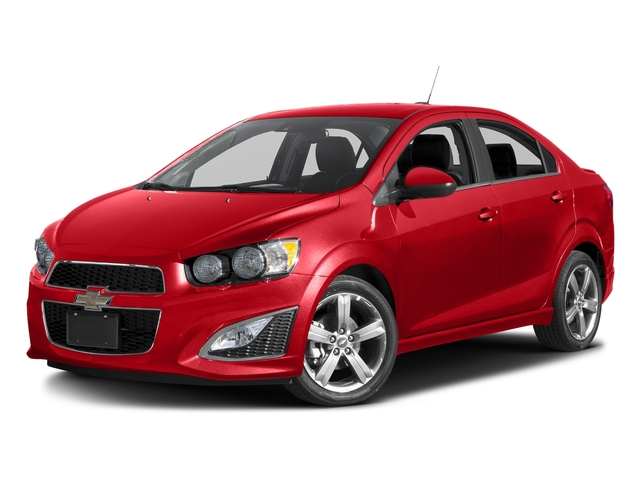 Red Hot 2016 Chevrolet Sonic Pictures Sonic Sedan 4D RS I4 photos front view
