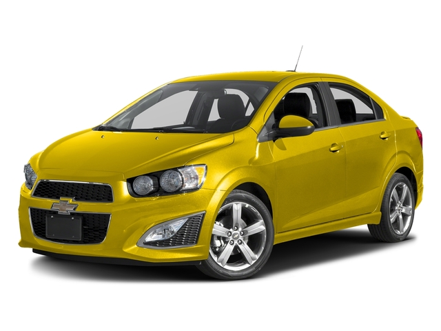 Bright Yellow 2016 Chevrolet Sonic Pictures Sonic Sedan 4D RS I4 photos front view