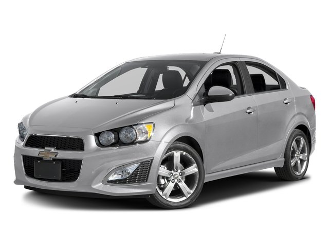 Silver Ice Metallic 2016 Chevrolet Sonic Pictures Sonic Sedan 4D RS I4 photos front view
