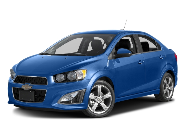 Kinetic Blue Metallic 2016 Chevrolet Sonic Pictures Sonic Sedan 4D RS I4 photos front view