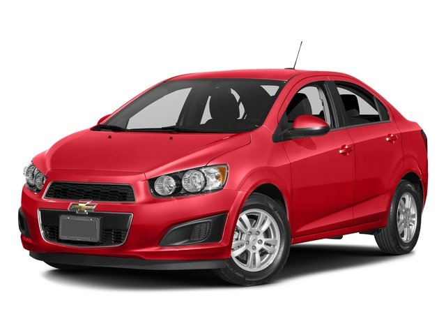 Red Hot 2016 Chevrolet Sonic Pictures Sonic Sedan 4D LS I4 photos front view