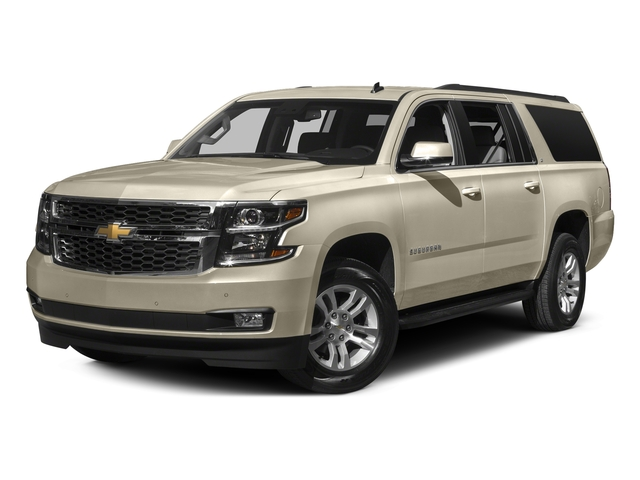 Champagne Silver Metallic 2016 Chevrolet Suburban Pictures Suburban Utility 4D Fleet 2WD V8 photos front view