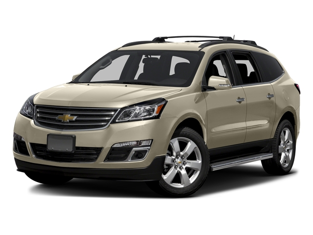 Champagne Silver Metallic 2016 Chevrolet Traverse Pictures Traverse Utility 4D LT AWD V6 photos front view