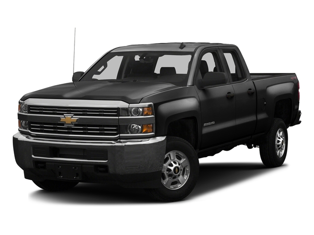 Black 2016 Chevrolet Silverado 2500HD Pictures Silverado 2500HD Extended Cab Work Truck 4WD photos front view