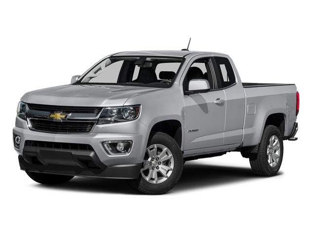 Silver Ice Metallic 2016 Chevrolet Colorado Pictures Colorado Extended Cab LT 4WD photos front view