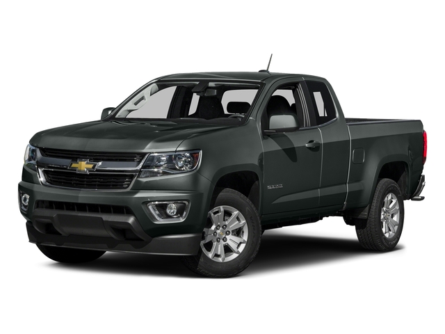 Cyber Gray Metallic 2016 Chevrolet Colorado Pictures Colorado Extended Cab LT 4WD photos front view