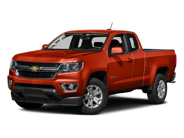 Inferno Orange Metallic 2016 Chevrolet Colorado Pictures Colorado Extended Cab LT 4WD photos front view