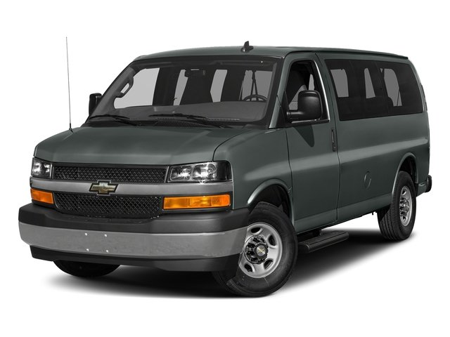 Cyber Gray Metallic 2016 Chevrolet Express Passenger Pictures Express Passenger Express Van LS 135 photos front view