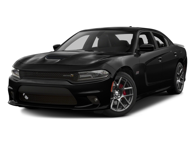 Pitch Black Clearcoat 2016 Dodge Charger Pictures Charger Sedan 4D R/T Scat Pack V8 photos front view