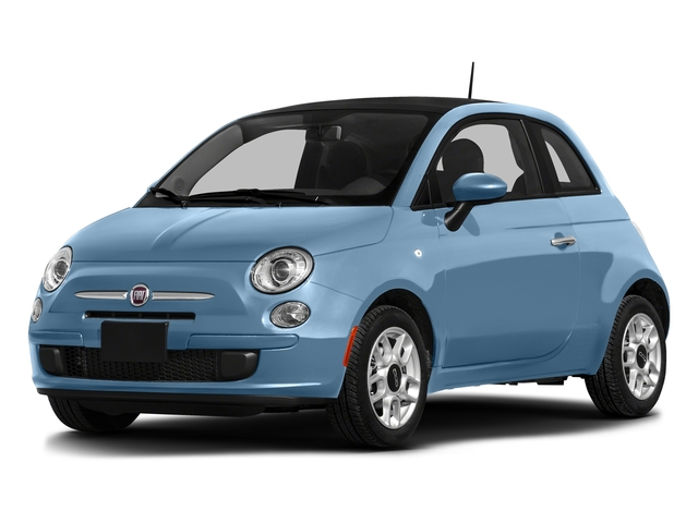 Celeste Blu (Retro Light Blue) 2016 FIAT 500 Pictures 500 Hatchback 3D Lounge I4 photos front view