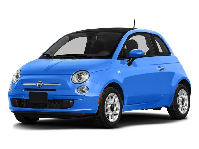 Laser Blu (Bright Met. Blue) 2016 FIAT 500 Pictures 500 Hatchback 3D Lounge I4 photos front view