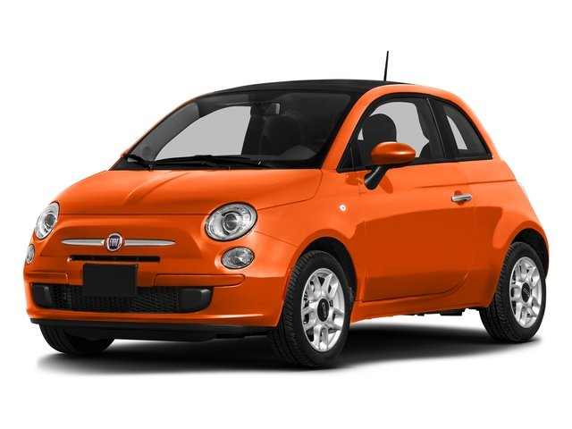 Spitfire Orange 2016 FIAT 500 Pictures 500 Hatchback 3D Lounge I4 photos front view