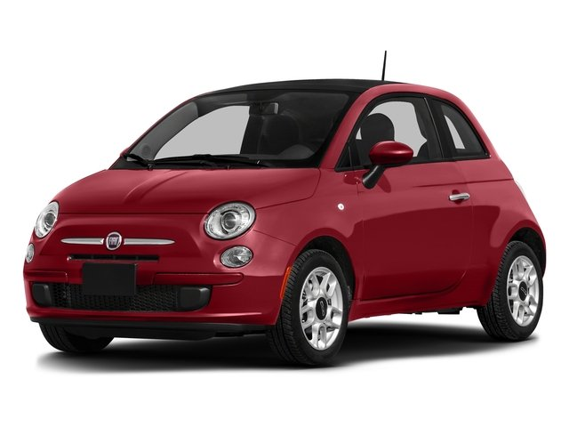 Rosso (Red) 2016 FIAT 500 Pictures 500 Hatchback 3D Lounge I4 photos front view