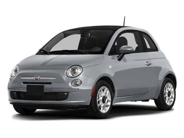 Billet Argento (Silver) 2016 FIAT 500 Pictures 500 Hatchback 3D Lounge I4 photos front view