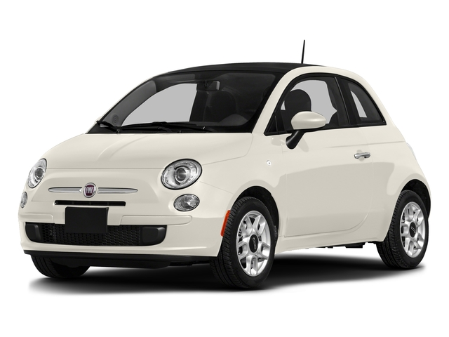 Bianco (White) 2016 FIAT 500 Pictures 500 Hatchback 3D Lounge I4 photos front view