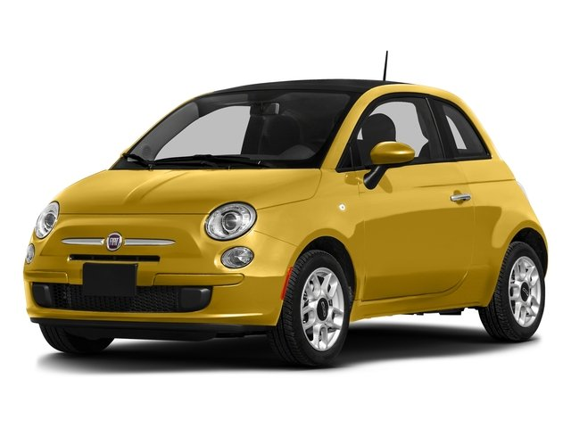 Giallo Moderna Perla (Pearl Yellow TC) 2016 FIAT 500 Pictures 500 Hatchback 3D Lounge I4 photos front view