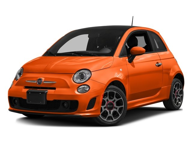 Spitfire Orange 2016 FIAT 500 Pictures 500 Hatchback 3D I4 Turbo photos front view
