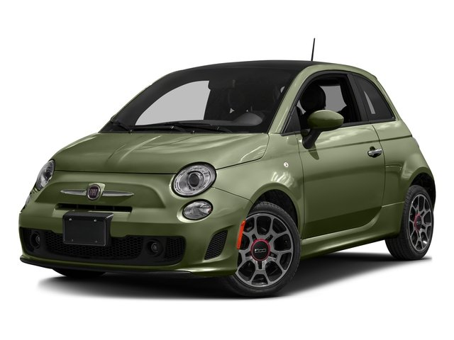 Verde Oliva (Olive Green) 2016 FIAT 500 Pictures 500 Hatchback 3D I4 Turbo photos front view