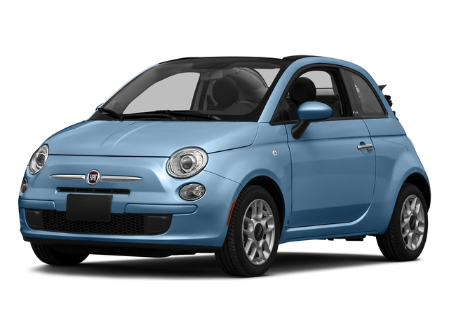 Celeste Blu (Retro Light Blue) 2016 FIAT 500c Pictures 500c Convertible 2D Lounge I4 photos front view
