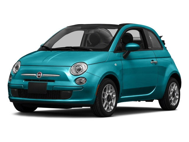 Laser Blu (Bright Met. Blue) 2016 FIAT 500c Pictures 500c Convertible 2D Lounge I4 photos front view