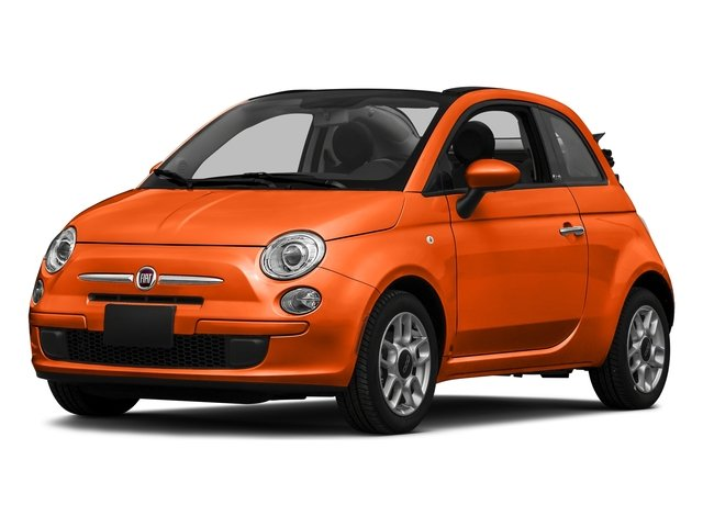 Spitfire Orange 2016 FIAT 500c Pictures 500c Convertible 2D Lounge I4 photos front view