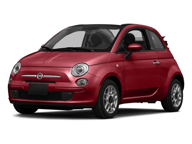 Rosso (Red) 2016 FIAT 500c Pictures 500c Convertible 2D Lounge I4 photos front view