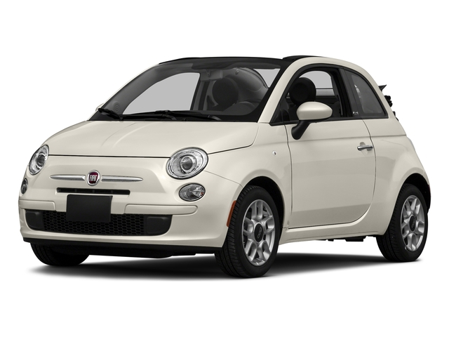 Bianco (White) 2016 FIAT 500c Pictures 500c Convertible 2D Lounge I4 photos front view