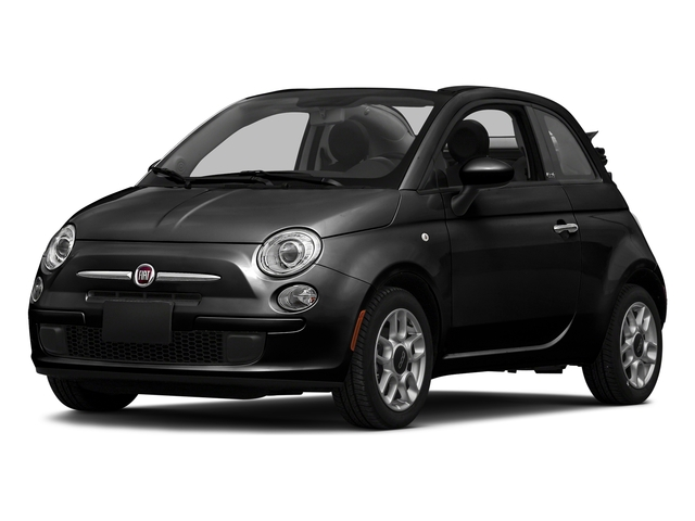 Nero Puro (Straight Black) 2016 FIAT 500c Pictures 500c Convertible 2D Lounge I4 photos front view