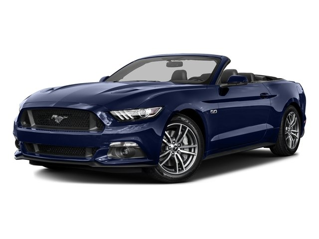 Deep Impact Blue Metallic 2016 Ford Mustang Pictures Mustang Convertible 2D GT Premium V8 photos front view