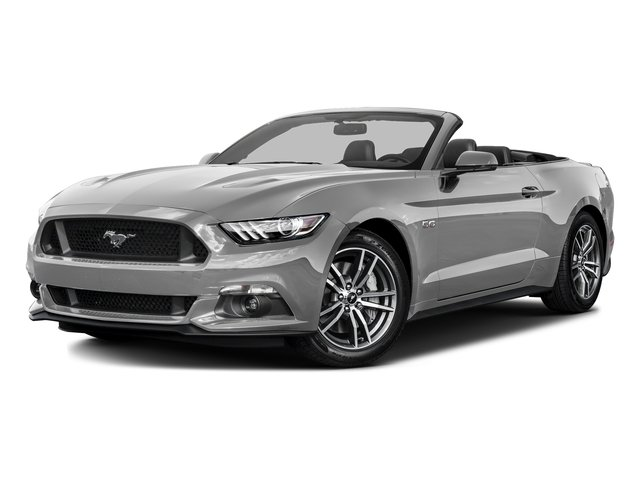Ingot Silver Metallic 2016 Ford Mustang Pictures Mustang Convertible 2D GT Premium V8 photos front view