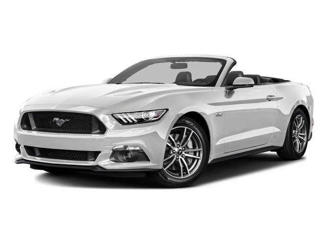 Oxford White 2016 Ford Mustang Pictures Mustang Convertible 2D GT Premium V8 photos front view