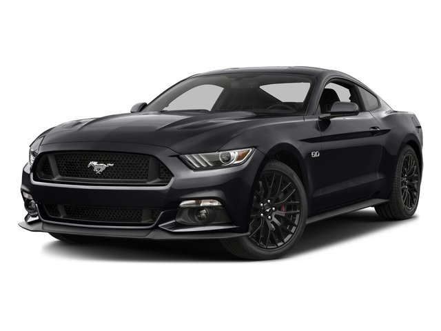 Shadow Black 2016 Ford Mustang Pictures Mustang Coupe 2D GT V8 photos front view