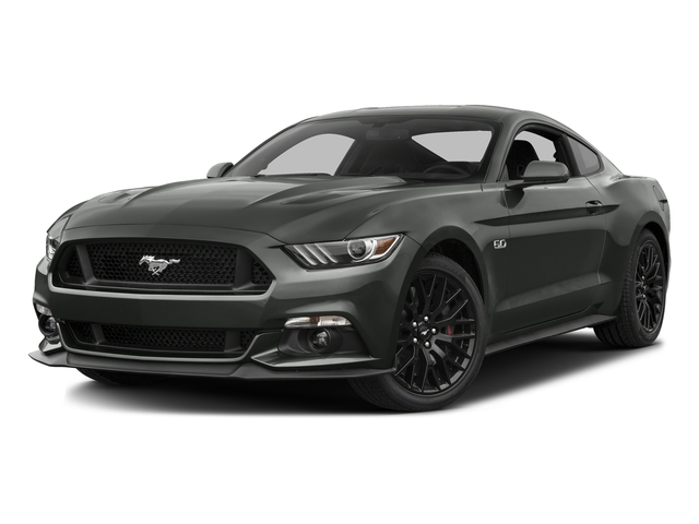 Magnetic Metallic 2016 Ford Mustang Pictures Mustang Coupe 2D GT V8 photos front view