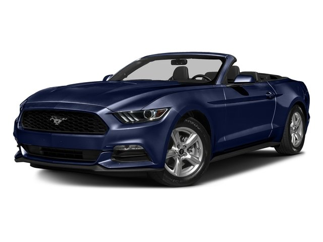 Deep Impact Blue Metallic 2016 Ford Mustang Pictures Mustang Convertible 2D V6 photos front view