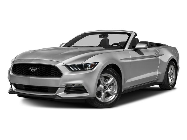 Ingot Silver Metallic 2016 Ford Mustang Pictures Mustang Convertible 2D V6 photos front view