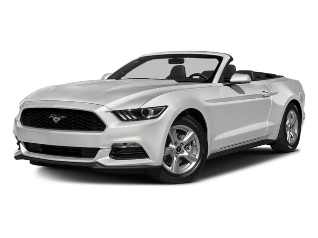 Oxford White 2016 Ford Mustang Pictures Mustang Convertible 2D V6 photos front view