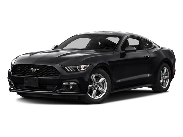 Shadow Black 2016 Ford Mustang Pictures Mustang Coupe 2D EcoBoost Premium I4 Turbo photos front view