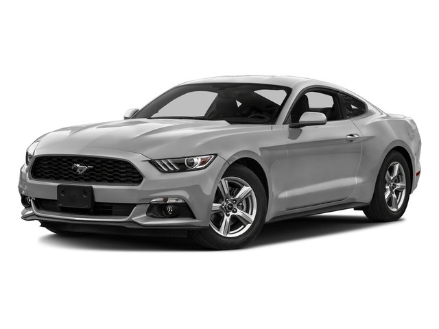 Ingot Silver Metallic 2016 Ford Mustang Pictures Mustang Coupe 2D EcoBoost Premium I4 Turbo photos front view