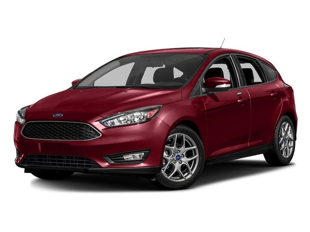 Ruby Red Metallic Tinted Clearcoat 2016 Ford Focus Pictures Focus Hatchback 5D SE EcoBoost I3 Turbo photos front view